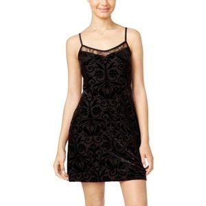 As U Wish Velvet Printed Dress